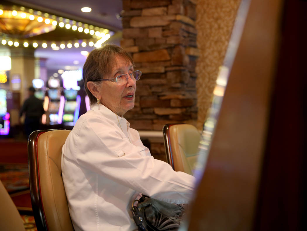 Maryanne Cumberledge, 80, of Las Vegas, at Sam's Town Monday, March 25, 2019. Cumberledge, who ...