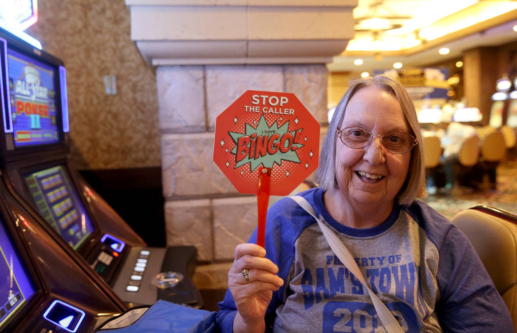 Barbara Avery, 70, of Las Vegas, waits for the doors to the bingo room to open at Sam's Town Tu ...