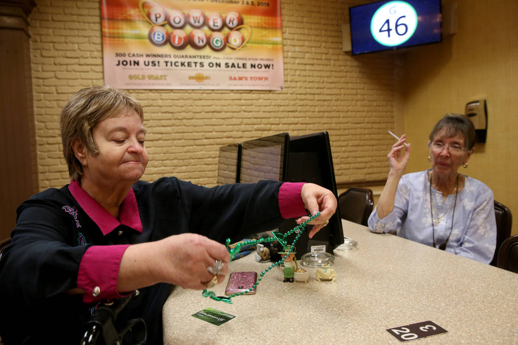 Longtime customers Debbie Vassallo, of Henderson, 30 years, left, and Maryanne Cumberledge, nea ...