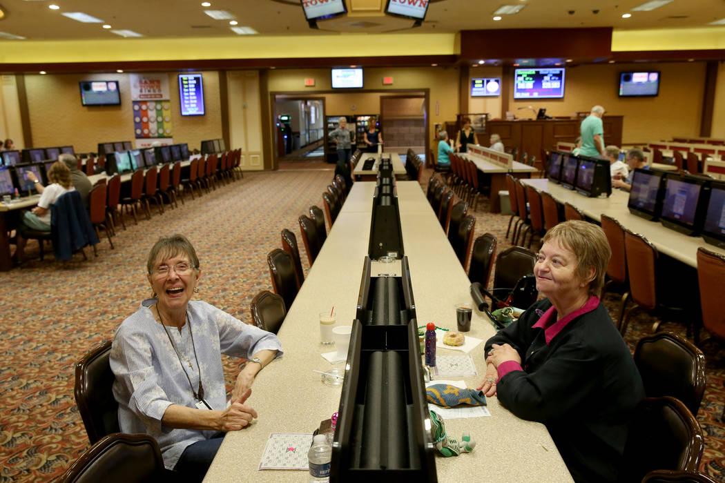 Longtime customers Maryanne Cumberledge, of Las Vegas, nearly 16 years, and Debbie Vassallo, of ...