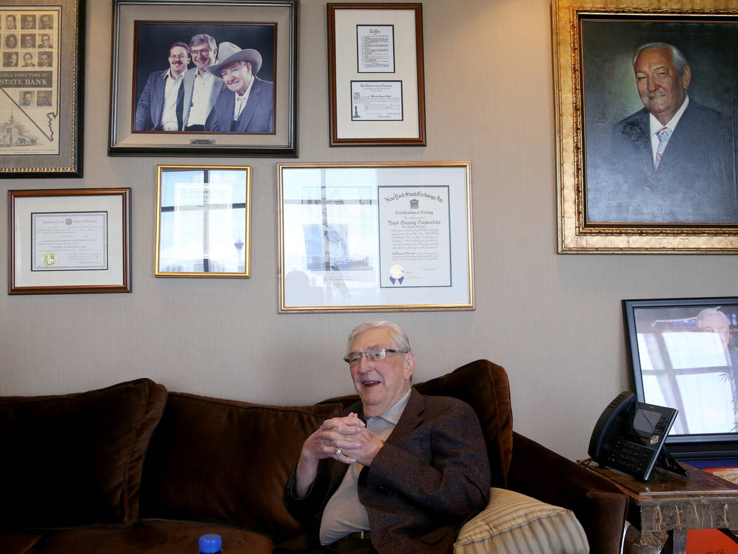 William Boyd, executive chairman of Boyd Gaming and son of hotel namesake Sam Boyd, at his Las ...