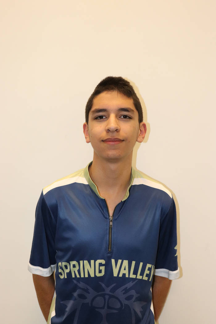 Spring Valley's Andrew Guba is a member of the Nevada Preps all-state bowling team.