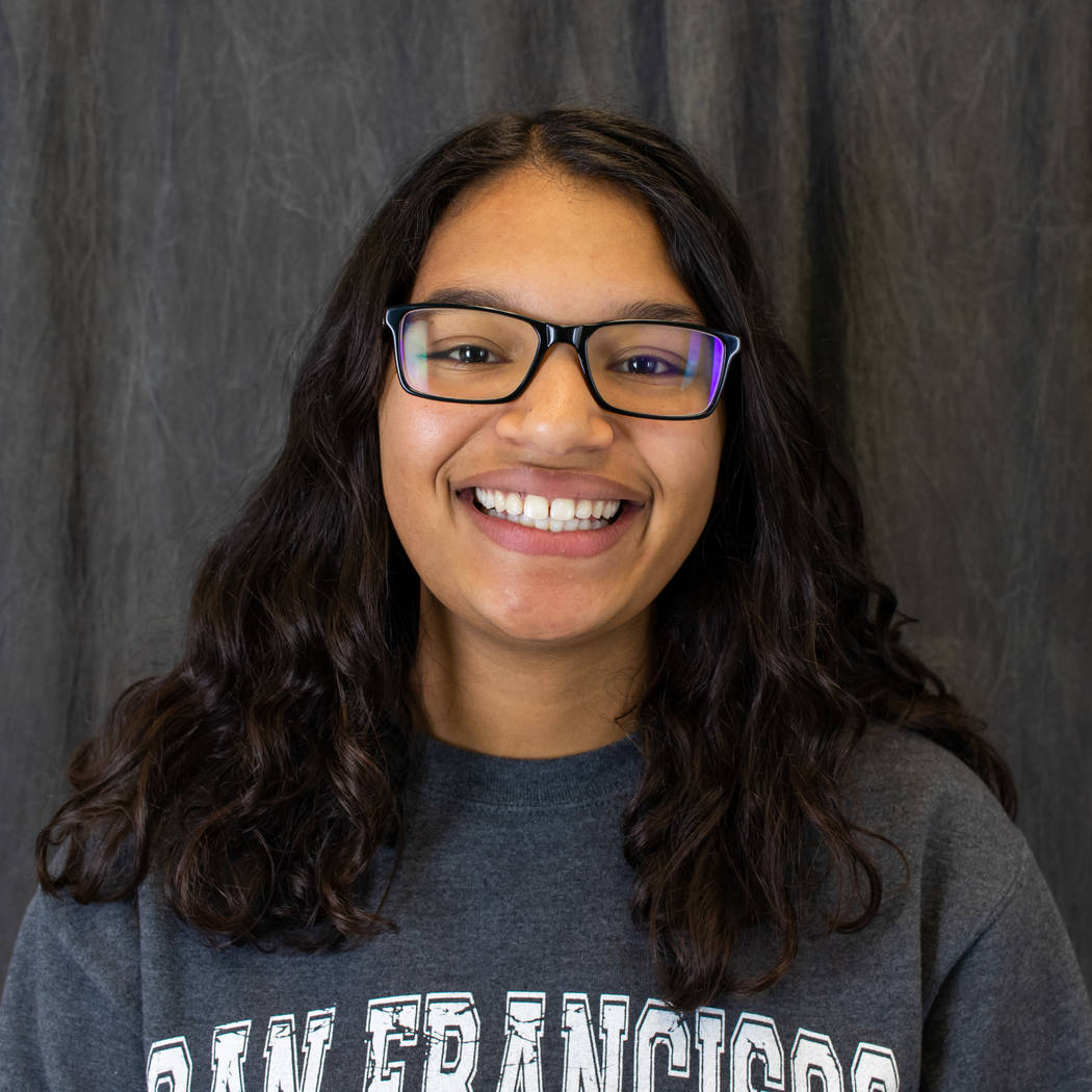 Basic's Janelle Lampkin is a member of the Nevada Preps all-state bowling team.