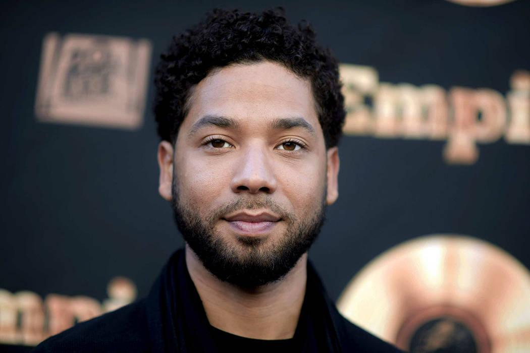Jussie Smollett had been indicted on 16 felony counts related to making a false report that he was attacked by two men. (Richard Shotwell/Invision/AP, File)