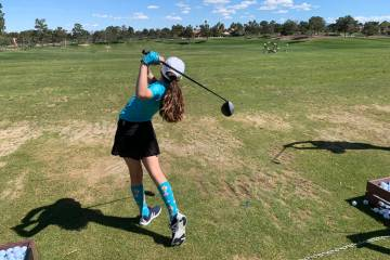 Milan Norton practices for an upcoming match at the Spanish Trails Country Club on March 22. M ...