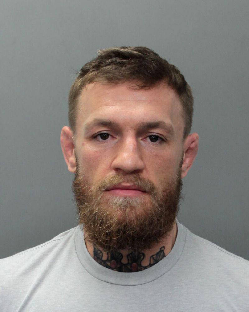 This photo provided by the Miami-Dade Corrections and Rehabilitation Department shows Conor McGregor. Authorities say mixed martial artist and boxer Conor McGregor has been arrested in South Flori ...