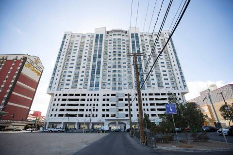 The Ogden Condominiums in downtown Las Vegas. (Las Vegas Review-Journal)