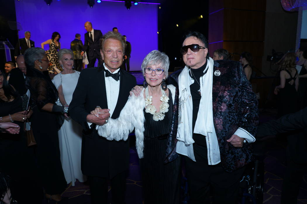 Entertainment legend Rita Moreno with Siegfried & Roy after accepting her Woman of the Year awa ...