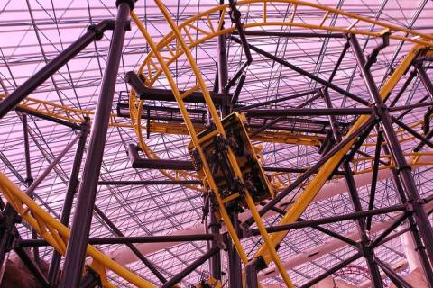 El Loco roller coaster inside the Adventuredome theme park at Circus Circus in Las Vegas. (Erik ...