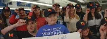 The Howard Hughes Corp. Wish kid Nikolas Davison and the entire Make-A-Wish staff appeared in t ...