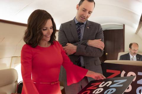 "Julia Louis-Dreyfus, Tony Hale in ""Veep"" photo: Colleen Hayes/HBO"