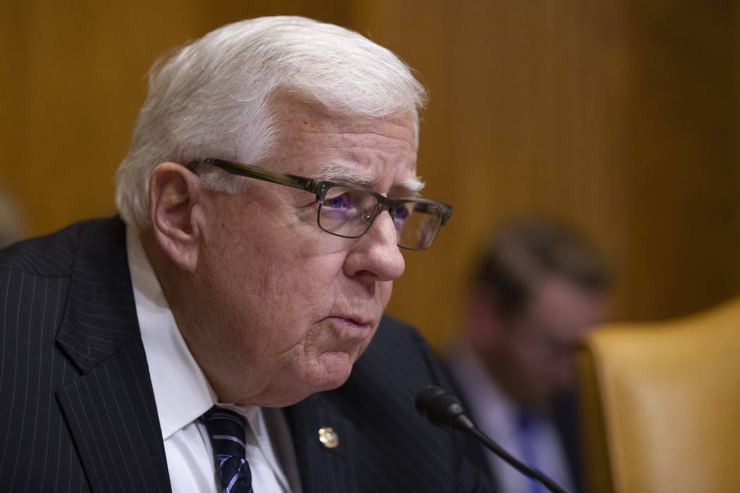 Chairman Mike Enzi, R-Wyo., speaks during a hearing of the Senate Budget Committee on the &quot ...