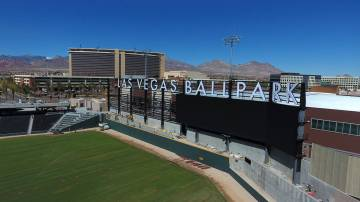 Las Vegas Ballpark is seen March 14, less than a month before the season opener. (Michael Quine ...