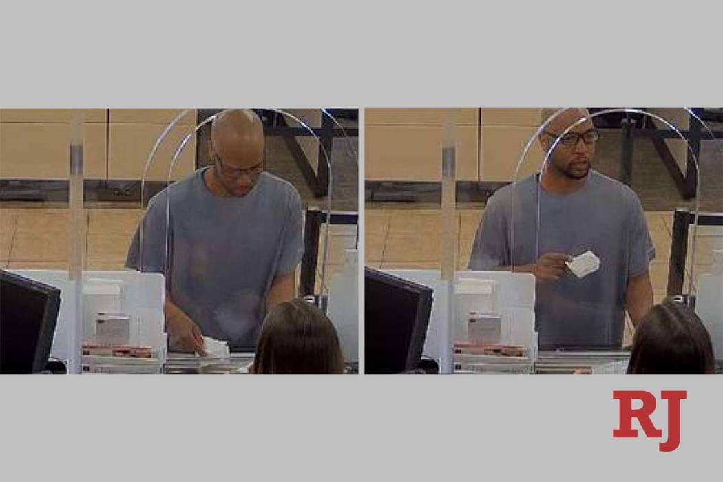 The Boulder City Police Department is looking for this man in connection with an attempted bank ...