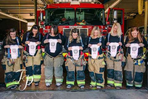 The pregnant wives of Salisbury Fire Department firefighters. (Flashpoint Photography)