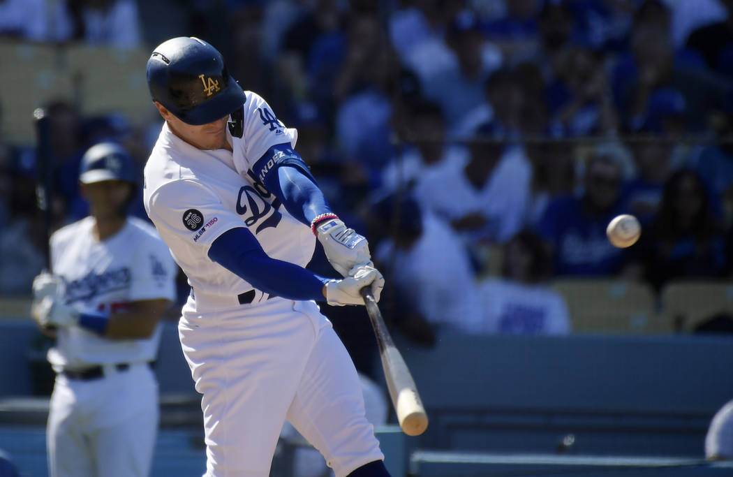 ae8296c264a07 Los Angeles Dodgers  Enrique Hernandez hits a solo home run during the  seventh inning of
