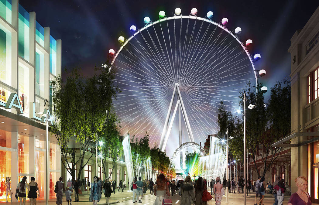 Artist's rendering of Project Linq, submitted Tuesday July 23, 2013. The Linq will be a $550 m ...