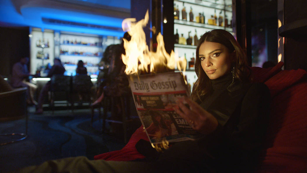 "Emily Ratajkowski featured in the new Palms ""Unstatus Quo"" campaign. (Palms Las Vegas)"