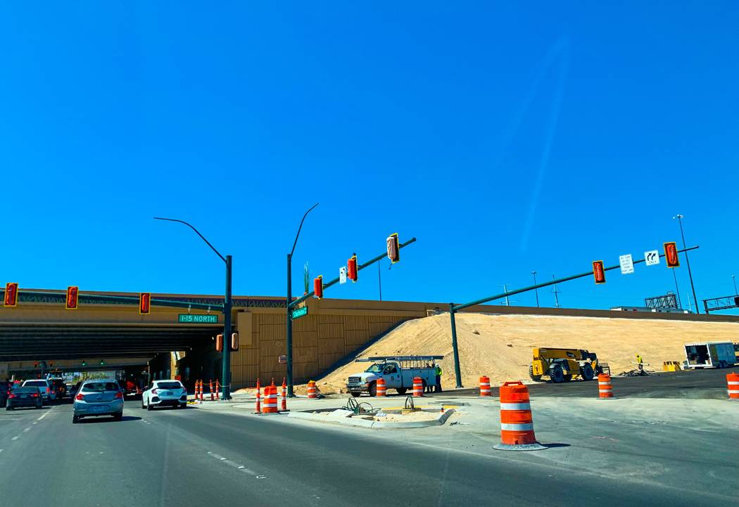 The new Charleston Boulevard to Interstate 15 northbound onramp is among a group of ramp openin ...
