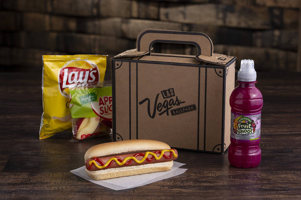 Hungry Hotshots meals for kids will be $7. (Las Vegas Ballpark/The Howard Hughes Corp.)