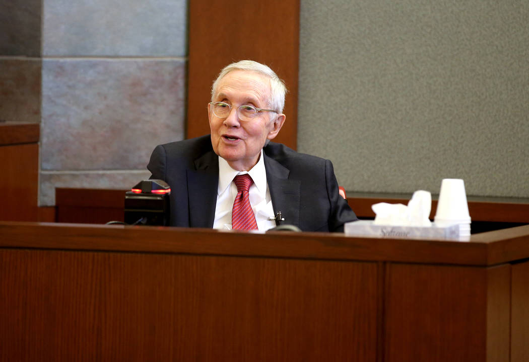 Harry Reid Takes Witness Stand In Las Vegas Civil Trial