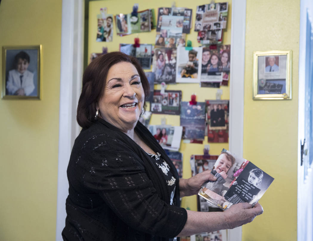 """Concetta Potenza, known as """"Aunt Chippy,"""" the aunt of Las Vegas native Jimmy Kimmel, ..."""