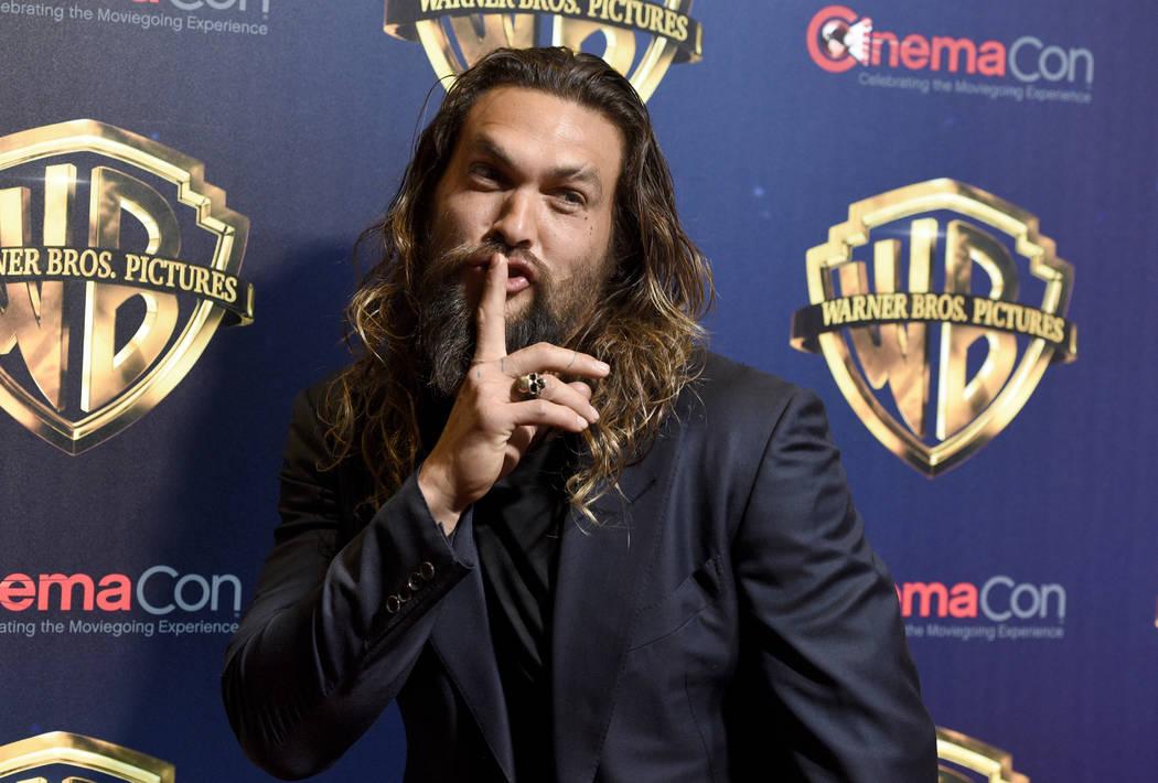 "Jason Momoa, a cast member in the upcoming film ""Aquaman,"" arrives at the Warner Bros ..."