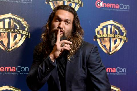 "Jason Momoa, a cast member in the upcoming film ""Aquaman,"" arrives at the Warner Bros ..."