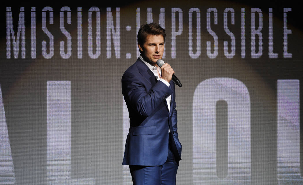 """Tom Cruise, star of the upcoming film """"Mission: Impossible - Fallout,"""" addresses the ..."""