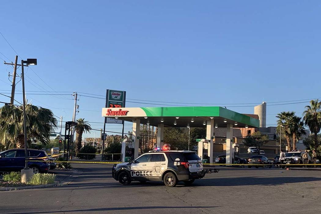 Las Vegas police homicide detectives are investigating after a theft was reported Friday, March ...