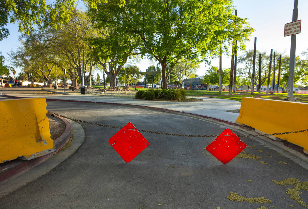 Huntridge Circle Park is closed for maintenance and improvement and has long struggled with iss ...