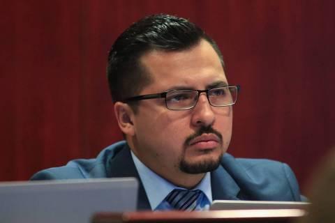 Assemblyman Edgar Flores, D-Las Vegas, seen in in Las Vegas in 2017. (Las Vegas Review-Journal)