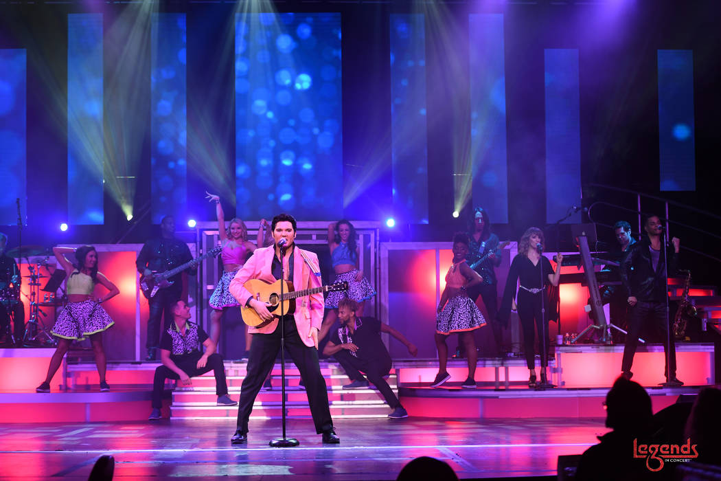 """Cody Slaughter of """"Legends In Concert"""" is shown during its premiere at Tropicana Las Vegas on W ..."""