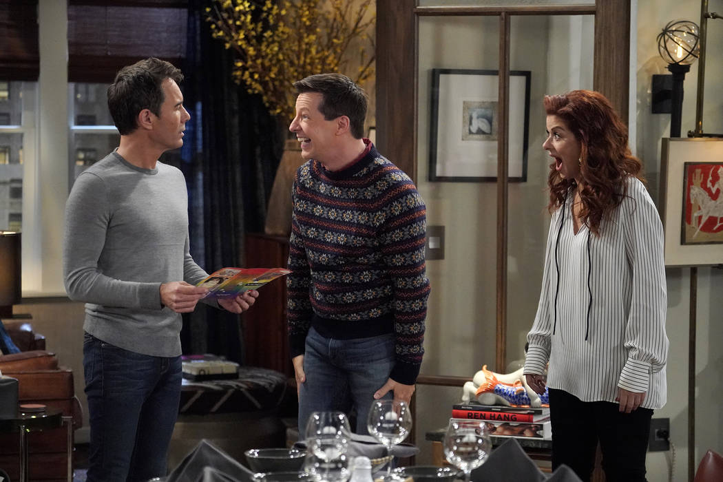 """WILL & GRACE -- """"Bad Blood"""" Episode 201 -- Pictured: (l-r) Eric McCormack as Will ..."""