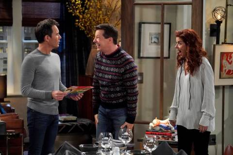 "WILL & GRACE -- ""Bad Blood"" Episode 201 -- Pictured: (l-r) Eric McCormack as Will ..."