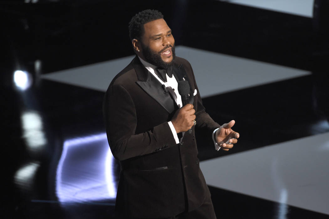 Host Anthony Anderson speaks at the 50th annual NAACP Image Awards on Saturday, March 30, 2019, ...