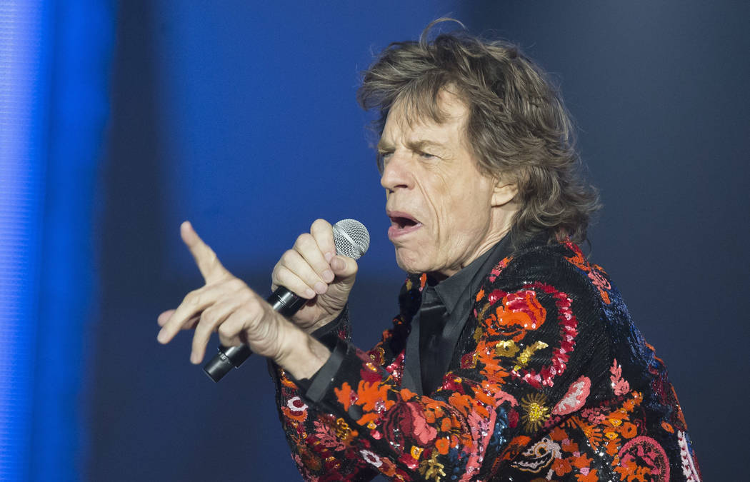 FILE - In this Oct. 22, 2017 file photo, Mick Jagger of the Rolling Stones performs during the ...