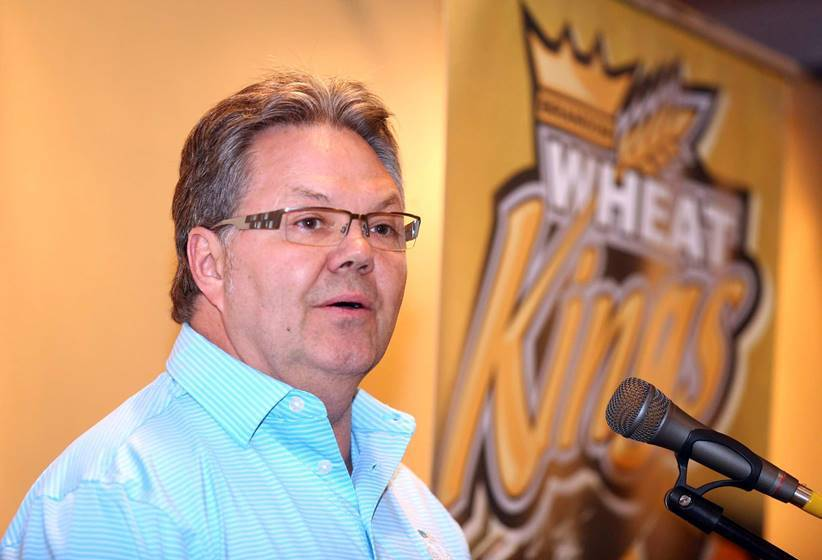 Kelly McCrimmon from his August press conference when he announced he was going to Las Vegas. ( ...