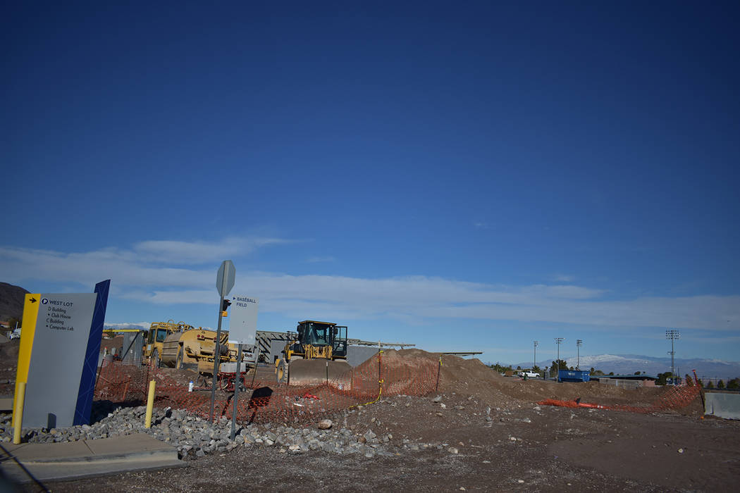 The construction so far of the new student union on the Henderson College of Southern Nevada ca ...