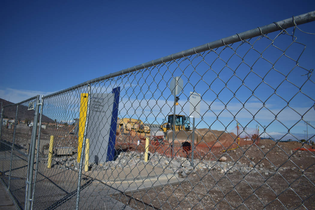 Construction on Monday, Feb. 18 of a student union has begun at the College of Southern Nevada ...