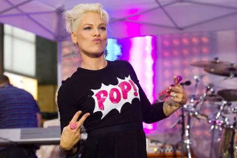 "Pink performs on NBC's ""Today"" show on Tuesday, Sept. 18, 2012 in New York to promote her lates ..."