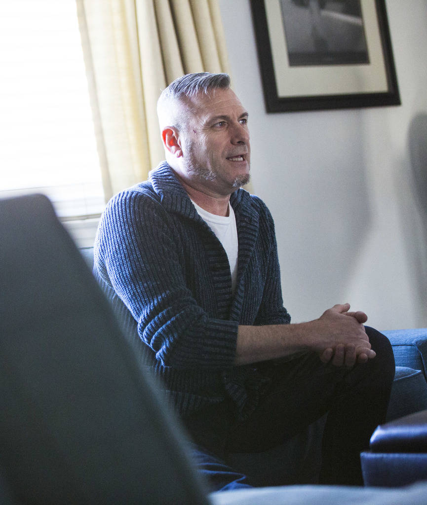 Jim Foley, who was diagnosed as HIV positive 30 years ago, talks about his experiences at his h ...