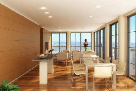 The design focus for this one-bedroom upscale condominium apartment is the expansive panorama. ...