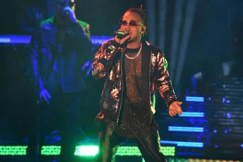Ozuna performs at the Latin Grammy Awards on Thursday, Nov. 15, 2018, at the MGM Grand Garden A ...