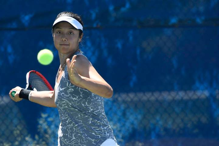UNLV senior Aiwen Zhu, shown last season, is 25-7 in singles this season, including 12-3 at the ...