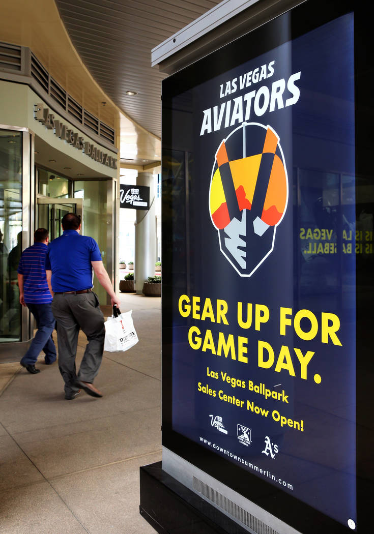 f98235d55 Customers enter the Las Vegas Aviators sales office in Downtown Summerlin  on Monday, March 25
