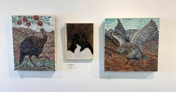 Priscilla Fowler Fine Art present artists Gig Depio and Darren Johnson in an exhibit of birds t ...