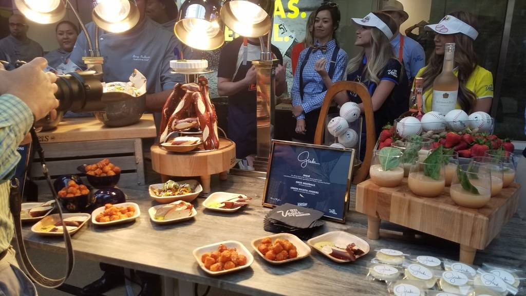 Giada De Laurentiis' food samples included orzo meatballs and lemon ricotta cookies at Las Vega ...