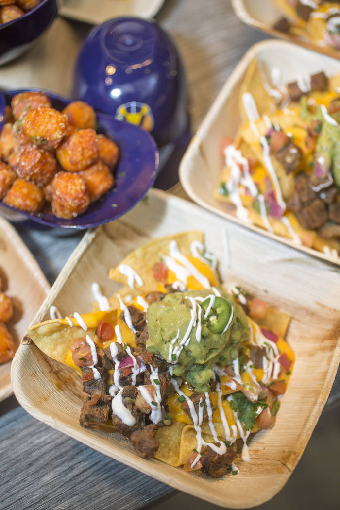 Crunch Time Nachos from Las Vegas Ballpark Food Icons during Aviators media day near Las Vegas ...