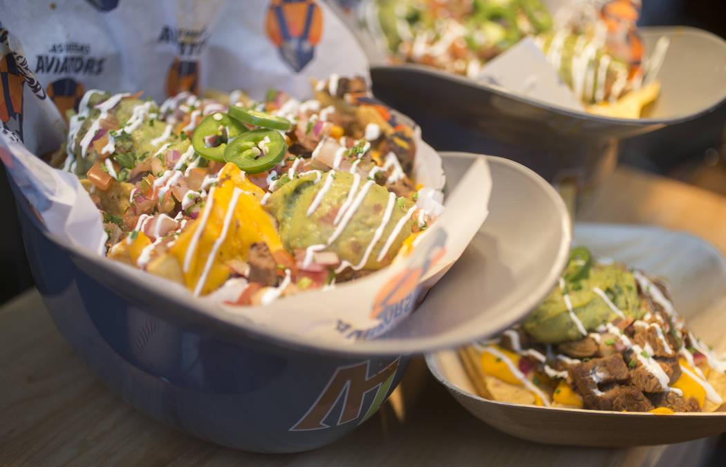 Crunch Time Nachos from Las Vegas Ballpark Food Icons during Aviators media near Las Vegas Ball ...